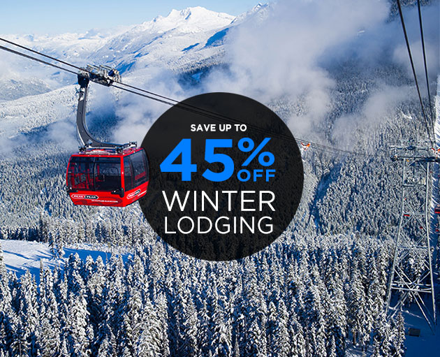 Up to 45% off Winter Lodging